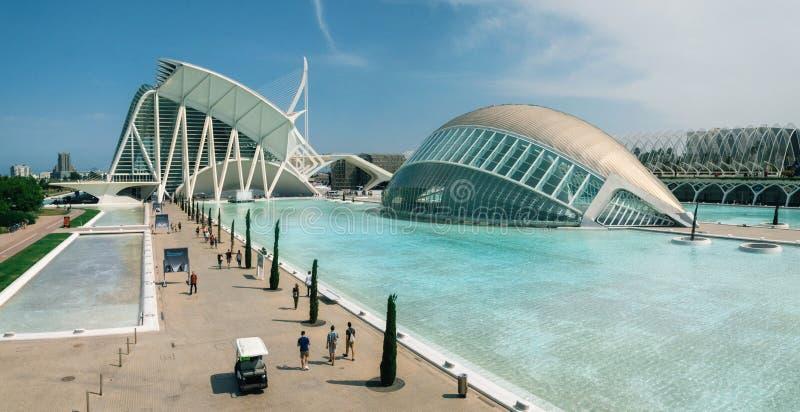 Cidade das artes e das ciências Valença, Spain imagem de stock royalty free