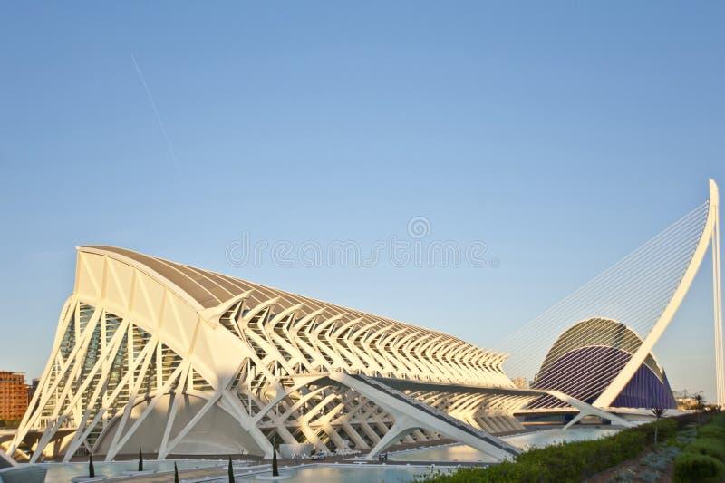 A cidade das artes e da ciência em Valência. fotos de stock royalty free