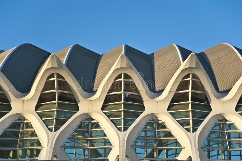 A cidade das artes e da ciência em Valência. foto de stock royalty free