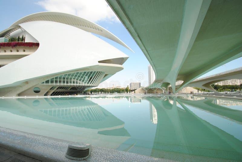 Cidade das artes e da ciência em Valência, Espanha imagens de stock royalty free