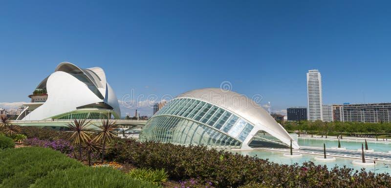 Cidade das artes e das ciências em Valença, Spain imagens de stock royalty free