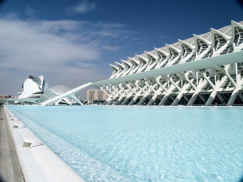 A cidade das artes e das ciências, Valencia Spain fotos de stock royalty free