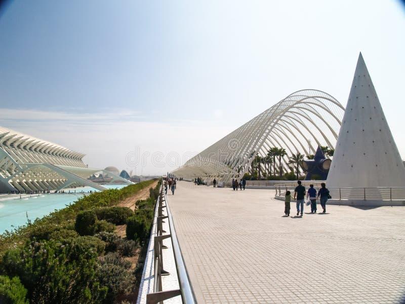 A cidade das artes e das ciências, Valencia Spain imagem de stock
