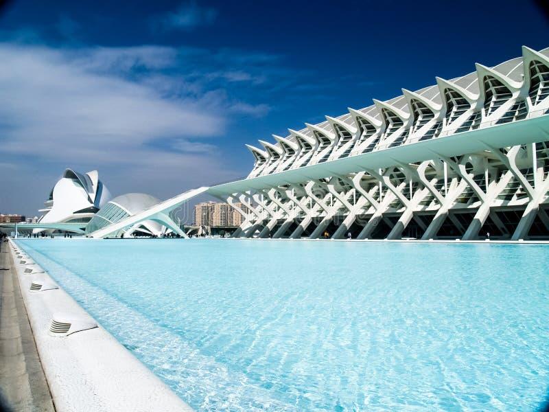 Cidade das artes e das ciências Valencia Spain fotos de stock royalty free