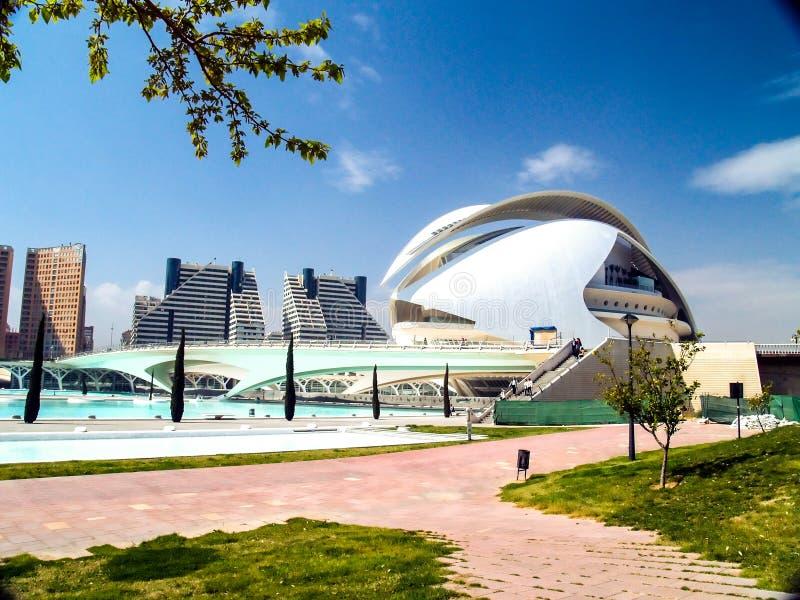 Cidade das artes e das ciências Valencia Spain imagem de stock