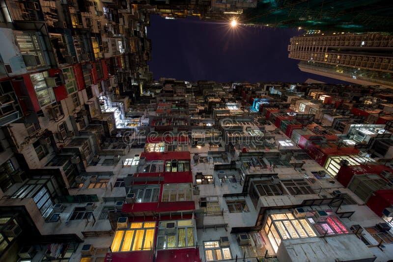 Cidade de Ásia na noite fotografia de stock
