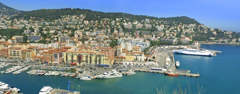 Cidade de agradável, d'Azure da costa, France fotos de stock