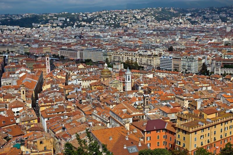 Cidade de agradável - vista da cidade de cima de imagem de stock
