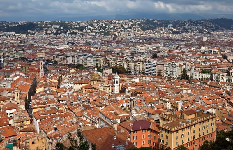 Cidade de agradável - vista da cidade de cima de fotografia de stock royalty free