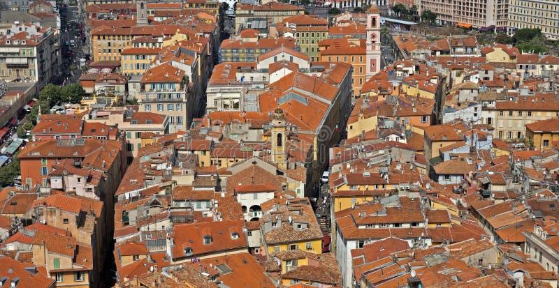 Cidade de agradável - vista da cidade de cima de fotos de stock