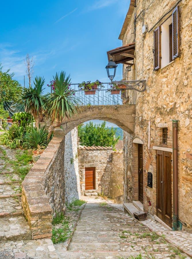 Cidade de Amelia, antiga e bonita na província de Terni, Úmbria, Itália imagens de stock