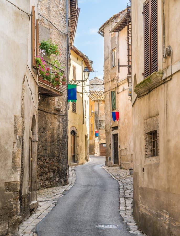 Cidade de Amelia, antiga e bonita na província de Terni, Úmbria, Itália foto de stock royalty free