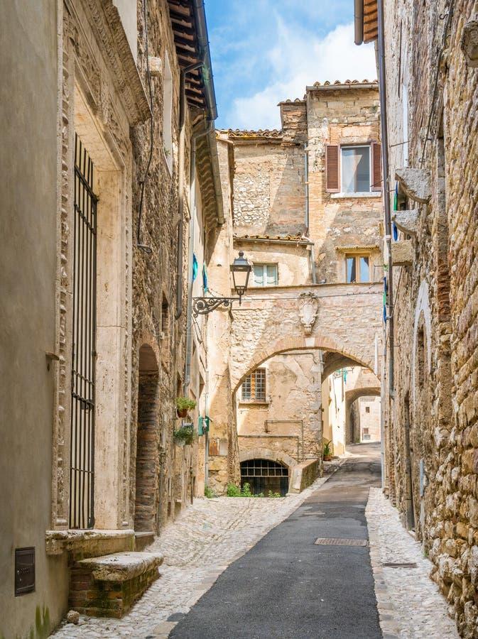 Cidade de Amelia, antiga e bonita na província de Terni, Úmbria, Itália imagem de stock royalty free