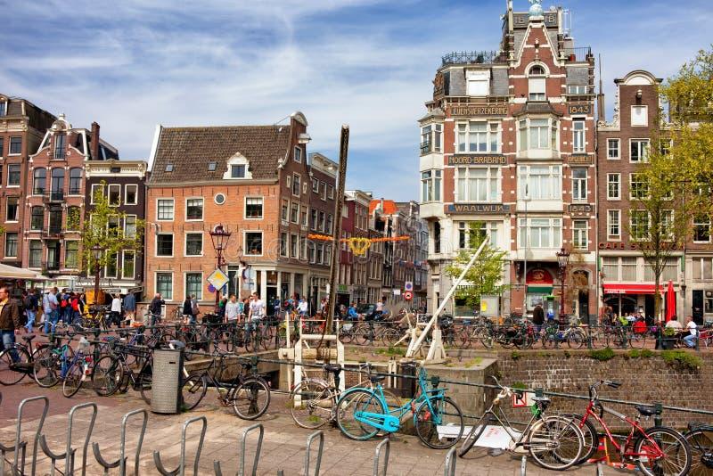 Cidade de Amsterd?o na Holanda fotografia de stock