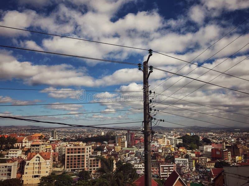 cidade de Anantanarivo em Madagáscar fotografia de stock royalty free