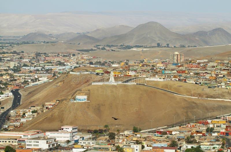 Cidade de Arica no Chile do norte fotografia de stock royalty free