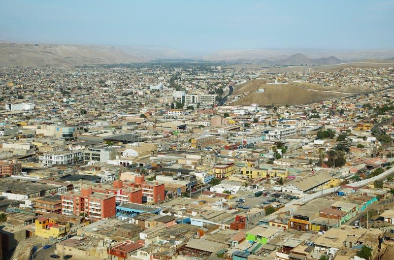 Cidade de Arica no Chile do norte imagens de stock royalty free