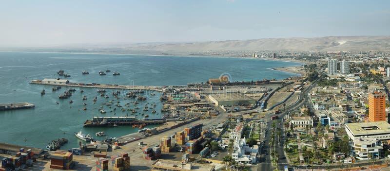 Cidade de Arica no Chile do norte imagem de stock royalty free