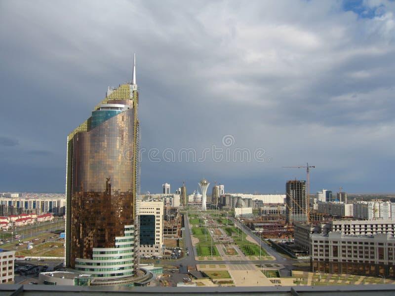 Cidade de Astana. Panorama imagens de stock royalty free