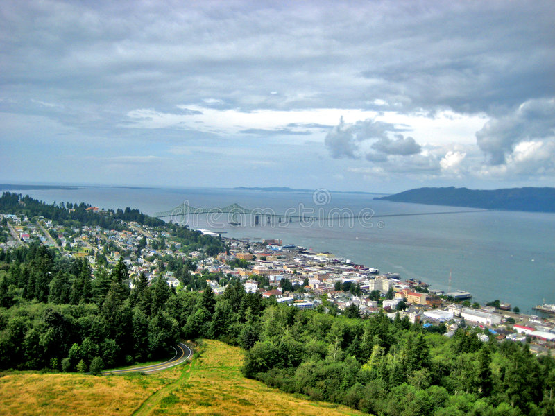 Cidade de Astoria Oregon foto de stock