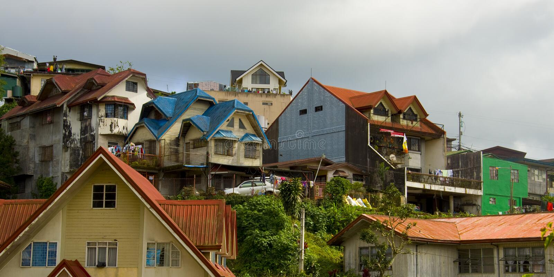 Cidade de Baguio, Filipinas fotos de stock royalty free