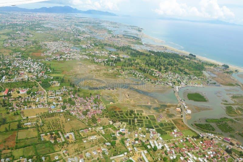 Cidade de Banda Aceh após a onda 2004 do tsunami fotos de stock royalty free