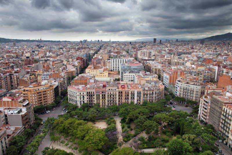 Cidade De Barcelona De Cima De Foto De Stock Imagem De Barcelona Cidade 46042030