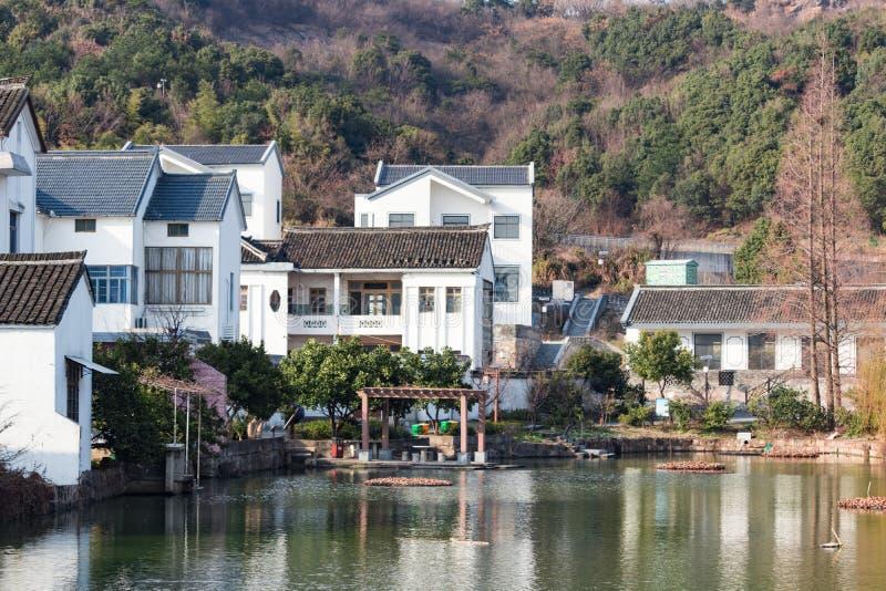 Cidade de beira-mar foto de stock royalty free
