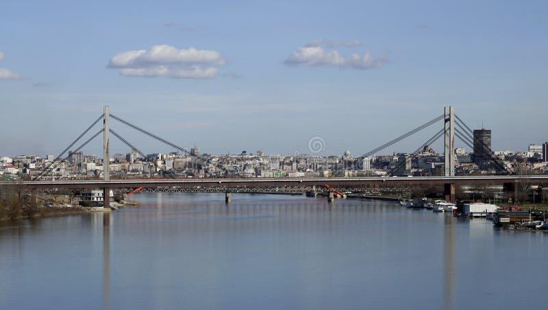 Cidade de Belgrado na Sérvia imagens de stock royalty free
