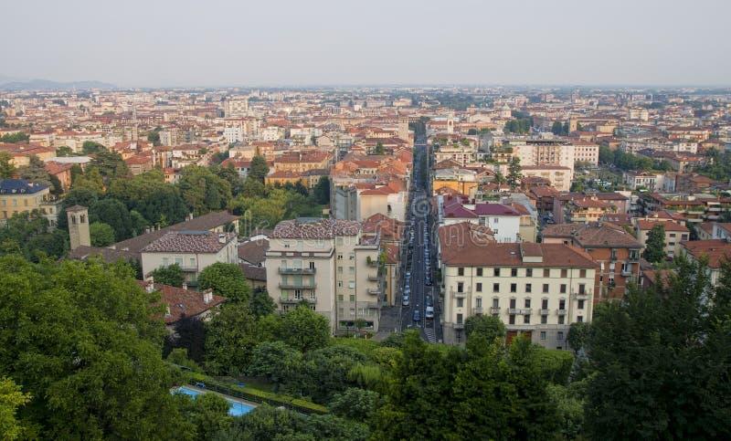 Cidade de Bergamo imagens de stock