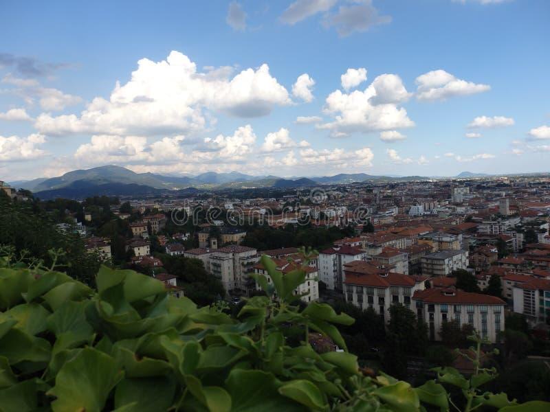 Cidade de Bergamo fotografia de stock