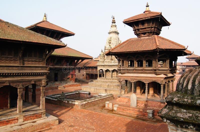 Cidade de Bhaktapur em Nepal fotografia de stock