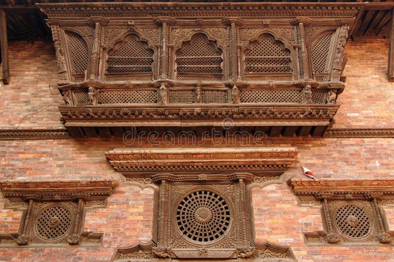 Cidade de Bhaktapur em Nepal imagem de stock