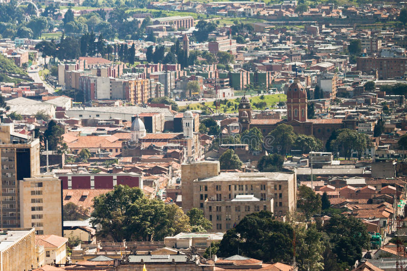 Cidade de Bogotá Colômbia fotografia de stock royalty free