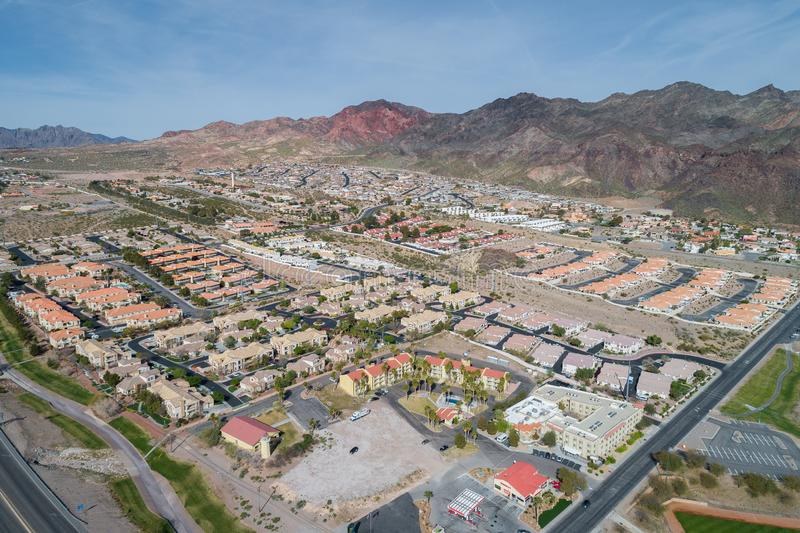 Cidade de Boulder em Nevada, Estados Unidos foto de stock