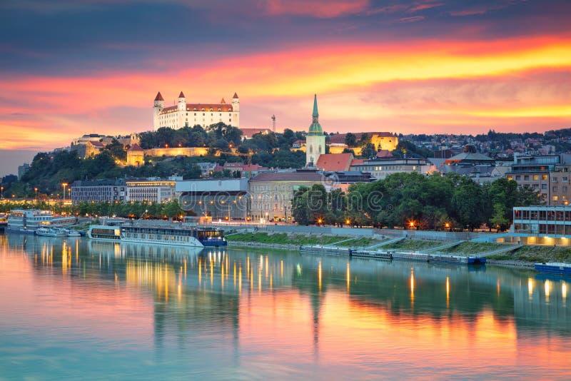 Cidade de Bratislava, Eslováquia fotografia de stock