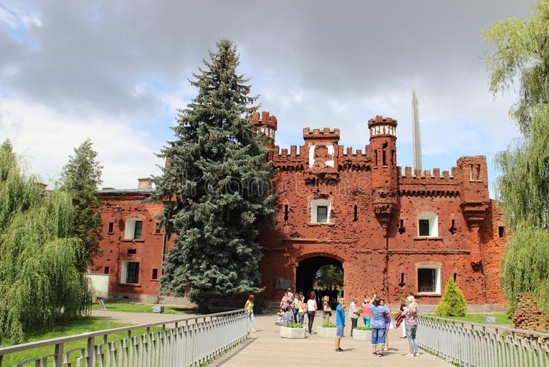 A cidade de Bresta na fortaleza de Bielorrússia 'Bresta ' A porta de Terespol fotos de stock