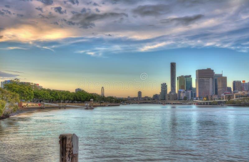 Cidade de Brisbane e Southbank Queensland Austrália foto de stock