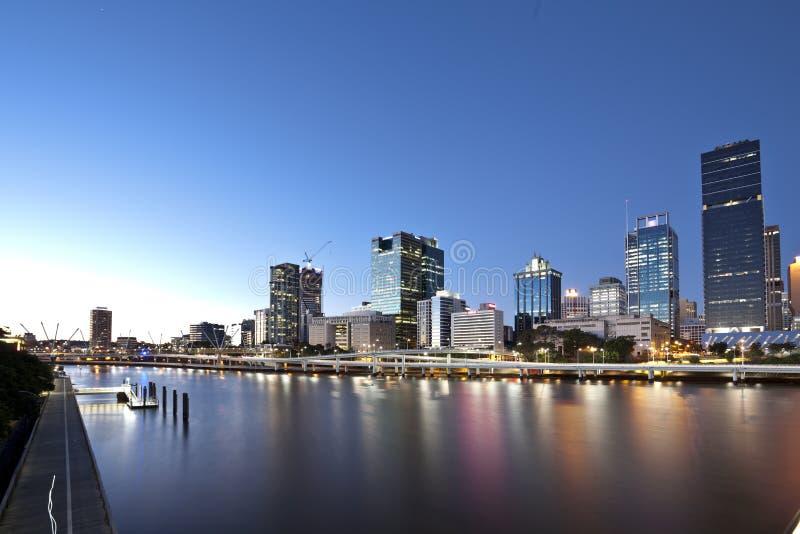Cidade de Brisbane, noite foto de stock royalty free