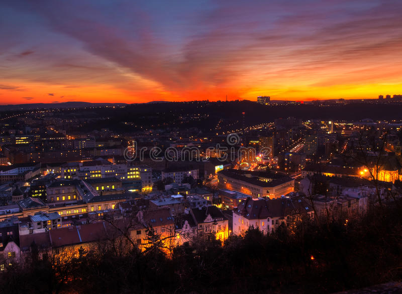 Cidade de Brno, república checa imagens de stock royalty free