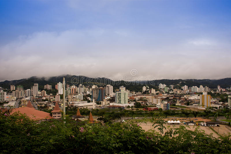 Cidade de Brusque - Santa Catarina, Brasil. Small and beautiful city of German colonization in the interior of Santa Catarina stock images