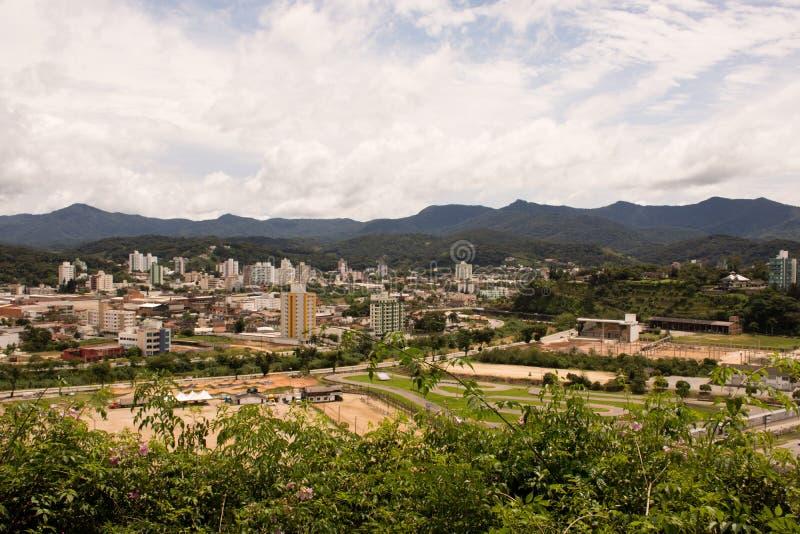Cidade de Brusque - Santa Catarina, Brasil. Small and beautiful city of German colonization in the interior of Santa Catarina royalty free stock image