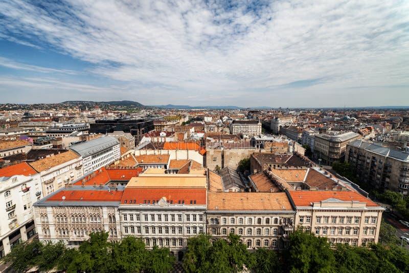 Cidade de Budapest de cima de foto de stock