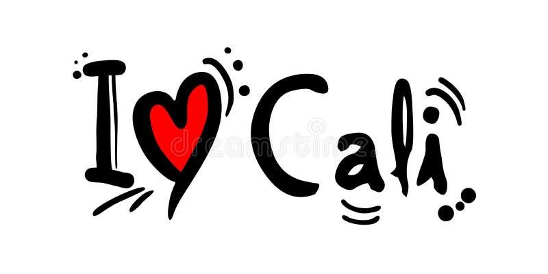 Cidade de Cali da mensagem do amor de Colômbia ilustração do vetor