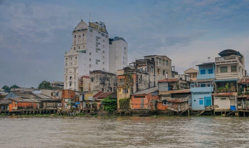 Cidade de Can Tho em Vietname foto de stock