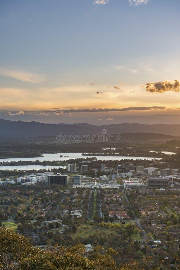 Cidade de Canberra fotografia de stock
