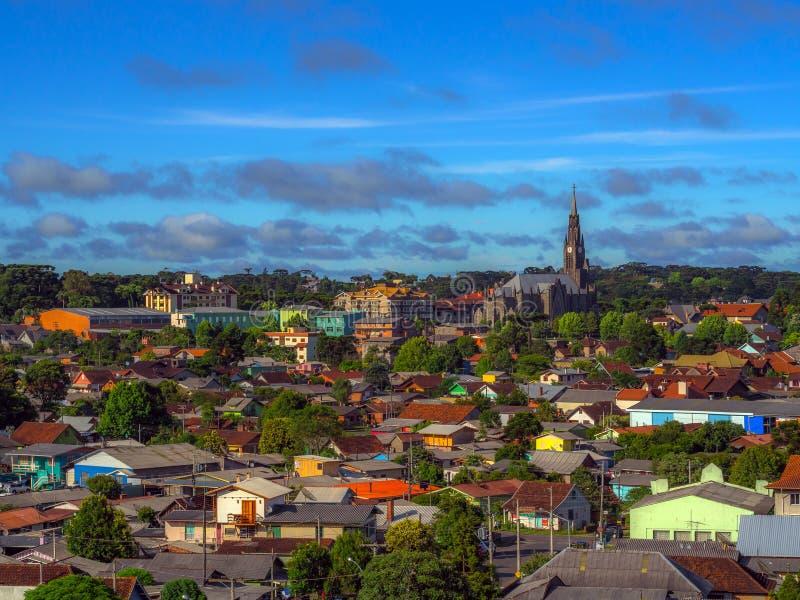 Cidade de Canela fotografia de stock
