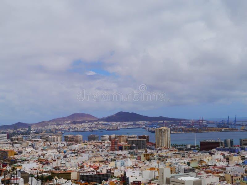 Cidade de Cannaries foto de stock royalty free