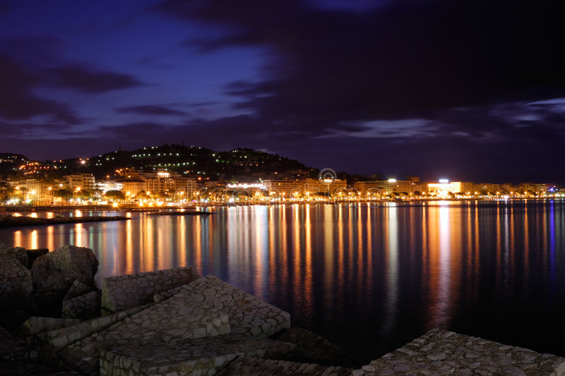 Cidade de Cannes, France fotografia de stock royalty free