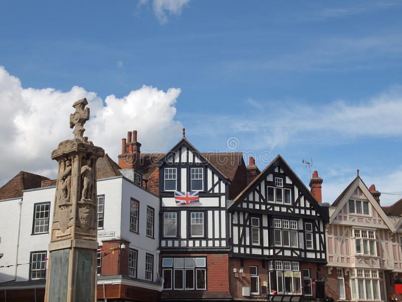 Cidade de Canterbury fotografia de stock